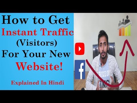 How to Increase Instant Traffic For New Websites l Explained In Hindi