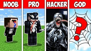 Minecraft NOOB vs PRO vs HACKER vs GOD: EVOLUTION OF THE VENOM CHALLENGE in Minecraft | Animation