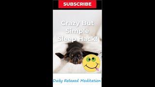 Crazy But Simple Sleep Hack #sleephack #short