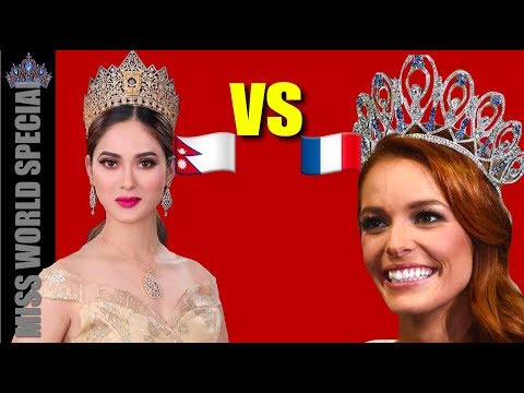 Shrinkhala VS France - Miss World 2018, Miss Nepal VS Miss France, Maeva Coucke