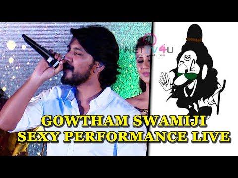 Gautham Karthik Imitates Voice Of Sexy Hara Hara Mahadevaki Swamiji Live On Stage | Audio Launch
