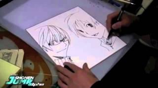 Takeshi Obata drawing Bakuman Ashirogi Muto - Mashiro e Takagi
