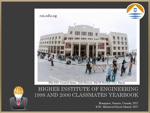 The Higher Institute of Engineering, 6 October City, 1999-2000 Classmates' Yearbook