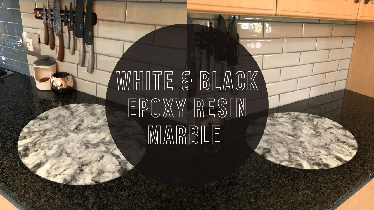 White and Black Marble | Epoxy Resin Marble Effect | Epoxy Resin White and Black Marble