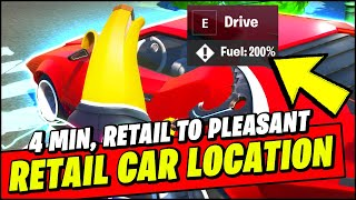 Drive a Car from Retail Row to Pleasant Park in Less than 4 Minutes (LOCATION & BEST WAY) - Fortnite