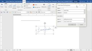 Save Signature Image as AutoText in Word - detailed explanation