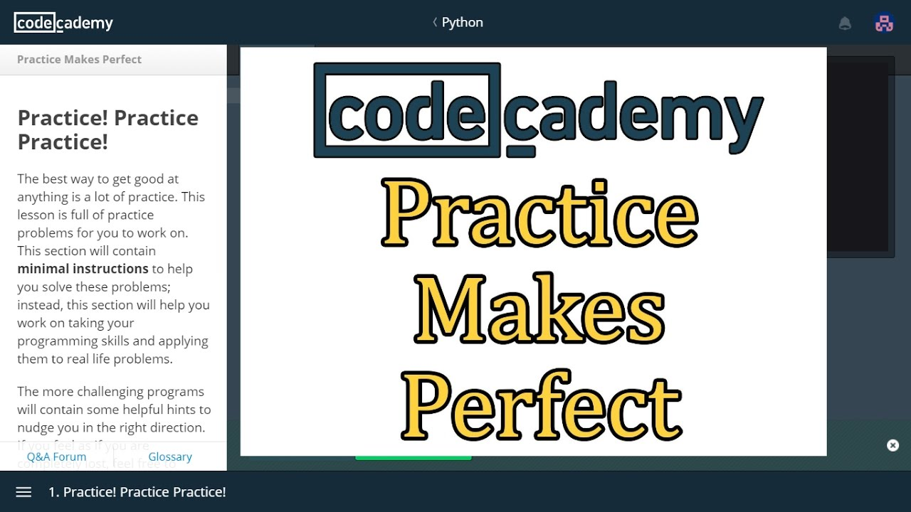 Codecademy Python Answers: Practice Makes Perfect / Learn Python with  Codecademy