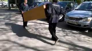 Как перевезти шкаф. Просто перевозка мебельной стенки.(, 2015-05-24T18:25:04.000Z)