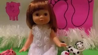 Знакомство с куклой Ксюшей:) Назови животного! Игры с куклой для девочек Кукла Пупсики Игрушка