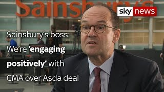 Sainsbury's 'engaging positively' with CMA over Asda merger