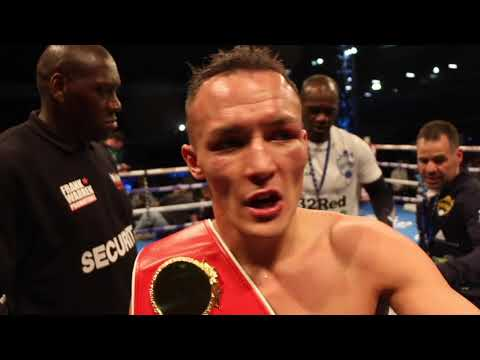 AND THE NEW! - JOSH WARRINGTON REACTS TO SENSATIONAL WORLD TITLE WIN OVER LEE SELBY AT ELLAND RD