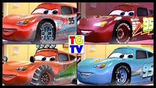 Cars Lightning McQueen ICE NEON DINOCO WINTER | Cars Fast as Lightning
