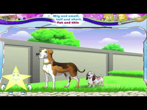 Learn Grade 1 - Maths - Big and Small tall and short fat and thin