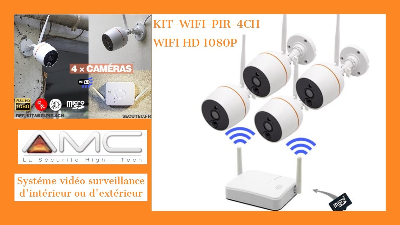Kit Camera Surveillance Exterieur Kit 4 CamÉras Wifi Hd 1080p Alerte Push Secutec Fr