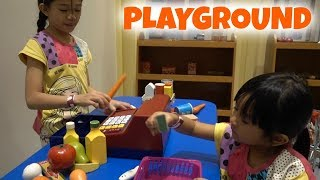 FUN INDOOR PLAYGROUND with BIG SLIDES