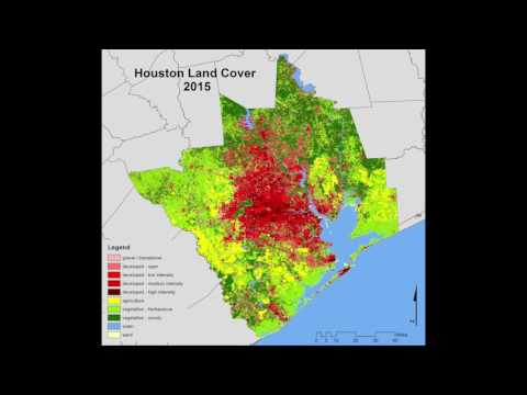 Spatio-temporal dynamics of urban growth in the greater Houston area: 1997-2016
