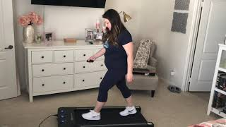 Goplus Treadmill Under Desk Electric Walking Treadmill LED Display & Wireless Remote Unboxing Review