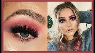 Red smokey eye makeup tutorial   Rainbow week   EmmasRectangle