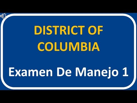 Examen De Manejo De District Of Columbia 1