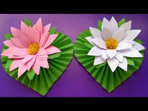 DIY paper Water Lily//How to make beautiful Water Lily with paper..