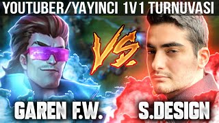 GAREN FOR WIN vs SINGEDESIGN! YOUTUBER/YAYINCI 1v1 TURNUVASI! LOL PİT