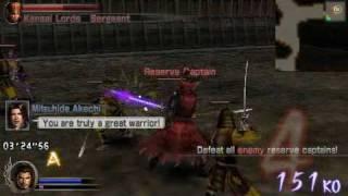 Samurai Warriors: State of War gameplay (PSP)