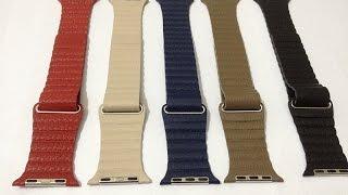 Распаковка и обзор ремешка Миланская петля (кожаный) и полный обзор Apple Watch Sport 42mm.