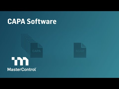 Demo: MasterControl CAPA Software