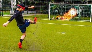 LUSTIGE FUßBALL CHALLENGE LATTENSCHIEßEN + BESTRAFUNGEN !