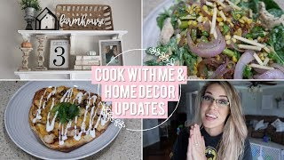 STAY AT HOME MOM VLOG | COOK WITH ME & SOME HOME DECOR UPDATES!