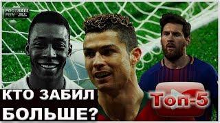 Лучшие бомбардиры в истории футбола: от Пеле и Ромарио к Месси и Роналду