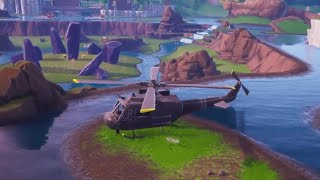 THE HELICOPTER MOVES TO THE SIDE OF THE *SECRET BUNKER* OF FORTNITE AND... REANIMATION VANS?!