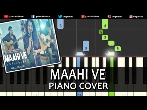 Maahi Ve Neha Kakkar|Song|Piano Chords Tutorial Lesson Instrumental Karaoke Unplugged By Ganesh Kini