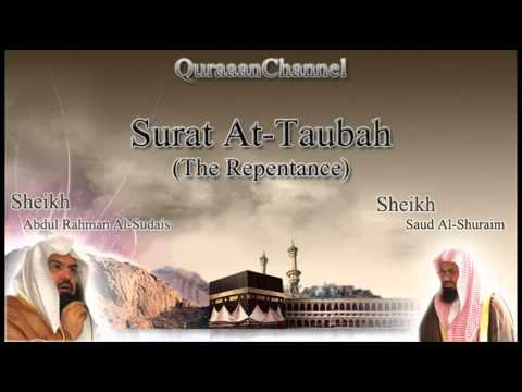 9 Surat At-Taubah with audio english translation Sheikh Sudais & Shuraim
