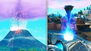 *NEW* Fortnite Volcano Erupting & RUNE ACTIVATING Event Gameplay! (Season 8 Storyline Ending)