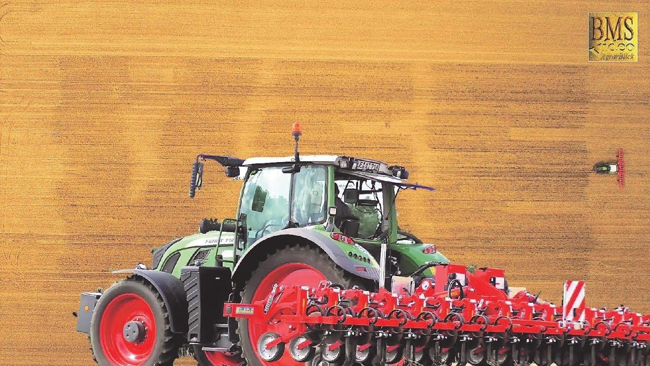 Das größte Firmenlogo 128x52 m -Precision Farming- Einböck Chopstar - Fendt 718 - Agravis  Uelzen