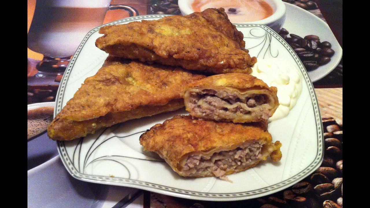 тонкие блины с мясом рецепт с пошаговым фото