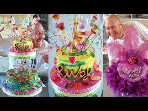 CAKE DECORATING DESIGNS - COMMERCIAL CELEBRATION CAKE IDEAS WITH ROYAL ICING & FONDANT - YouTube