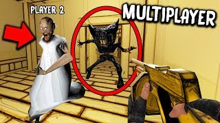 I found GRANNY in Bendy & the Ink Machine MULTIPLAYER! (Granny vs Bendy)