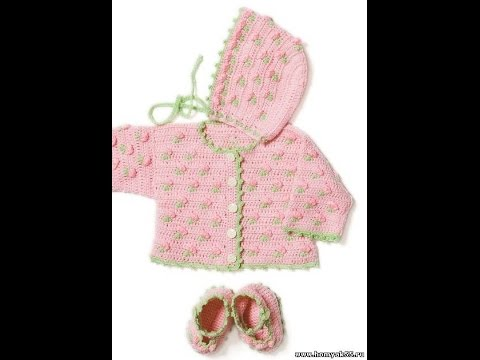 Crochet Patterns For Free Crochet Baby Jacket 1553 Youtube