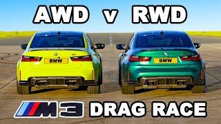BMW M3 xDrive vṡ RWD: DRAG RACE