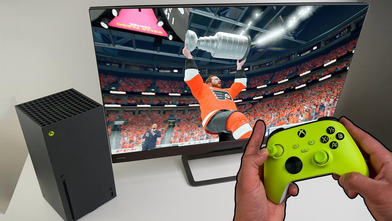 NHL 21 Gameplay on Xbox Series X Gamepass
