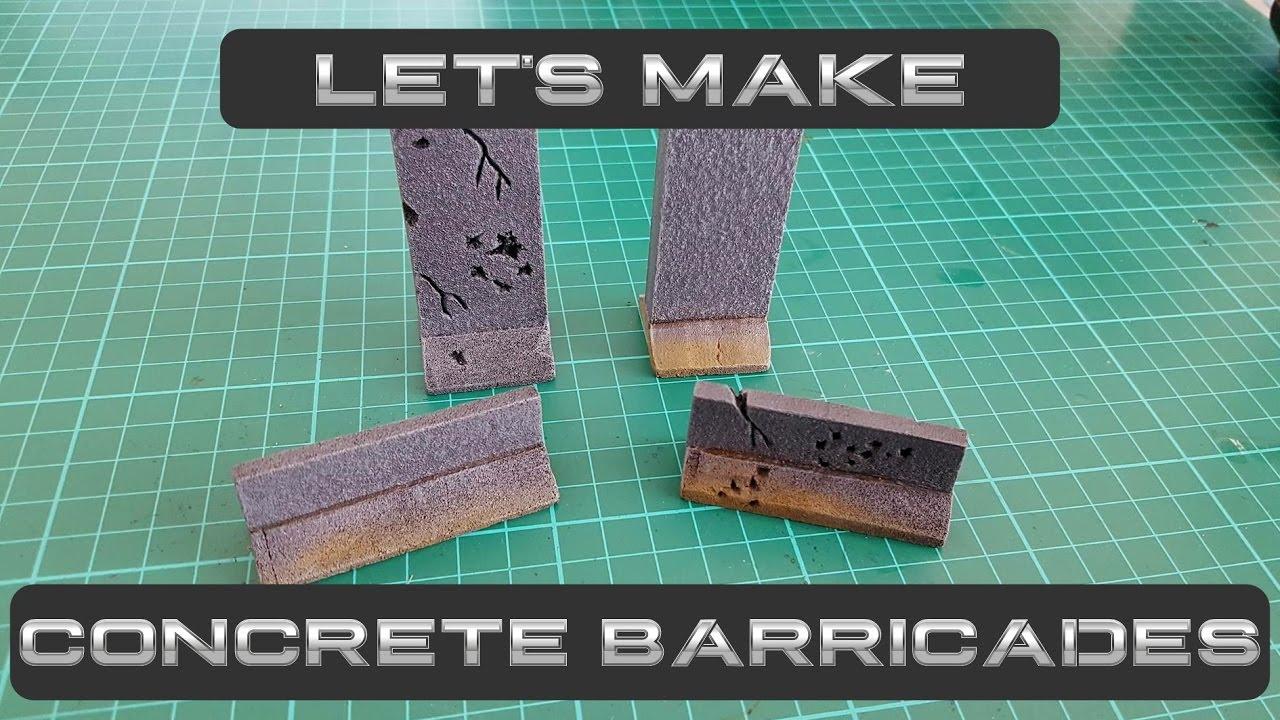 Let's Make: Concrete Barriers | Let's Make Wargaming Terrain