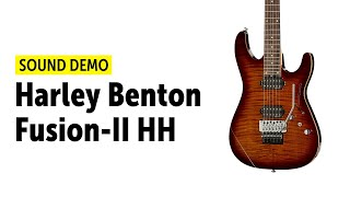 Harley Benton Fusion-II HH - Sound Demo (no talking)
