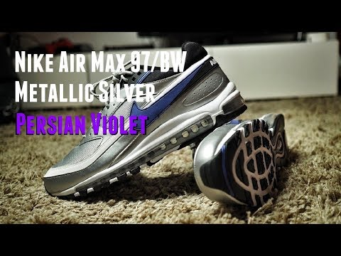 4884135d5c The Hybrid Theory: Nike Air Max 97/BW Metallic Silver Persian Violet Review  & On Feet - YouTube