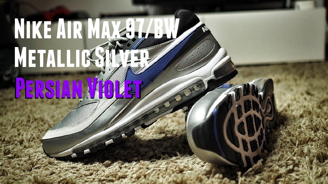 2f34058eae The Hybrid Theory: Nike Air Max 97/BW Metallic Silver Persian Violet Review  & On Feet