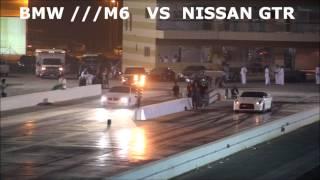 nissan gtr vs bmw m6 in dirab drag