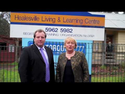 Jenny Macklin and the Labor candidate for McEwen R...