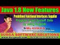 Java 8 New Features | | Program to get System Date by using Supplier || by Durga Sir