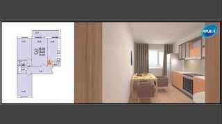 видео Дизайн квартиры 79 кв.м. в сталинском доме, м. «ВДНХ»